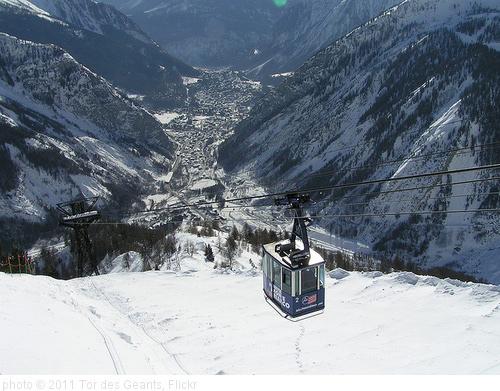 view of courmayeur form cable car- madasabadger, photo Tor des Geants